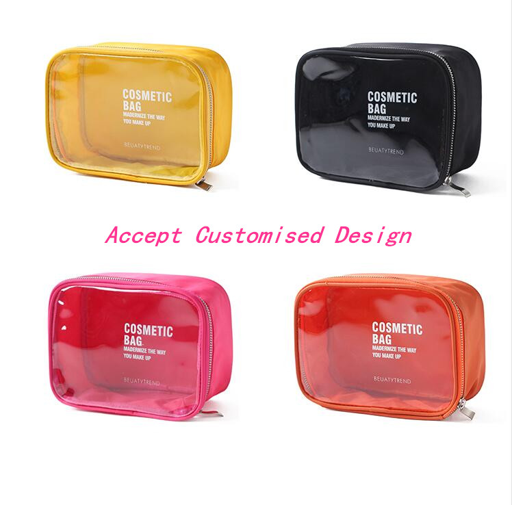 PVC Clear Cosmetic Bag Waterproof Travel Beauty Organiser Storage Pouch