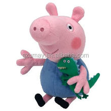 2017 Natural baby funny plush pink pig toy B 3287 little child models