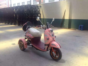 nice stable electric three wheel scooter for old people (differential motor)