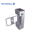Supermarket Entrance Gate Access Control Swing Arm Barrier with QR Code Reader