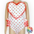 Baby Valentine's Day Playsuit Heart Shape Kids Romper Snap Crotch Bodysuit