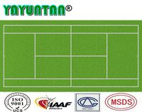 Polyurethane sports flooring tennis field for athlete