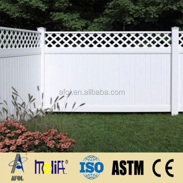 Zhejiang AFOL PVC Stockade Fence PVC Lattice Fence Trellis