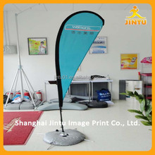 New arrivalcustom printing foldable banner feather beach flag for advertising