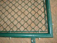 PVC coated chain link fence in black color /diamond mesh fence