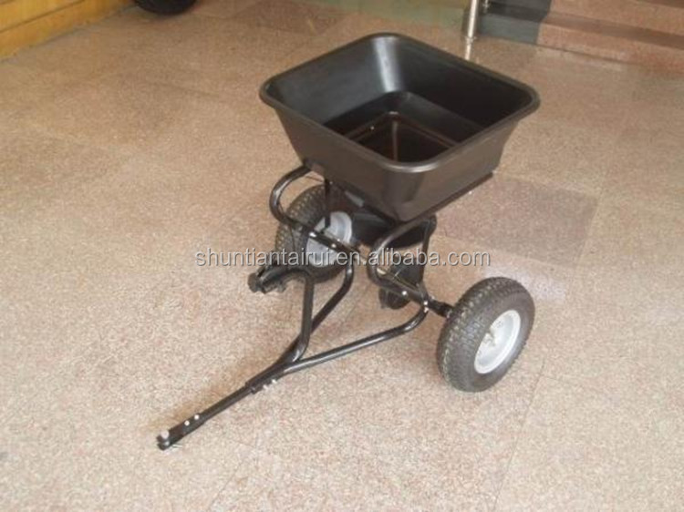 manual tow behind salt spreader/walk behind fertilizer spreader