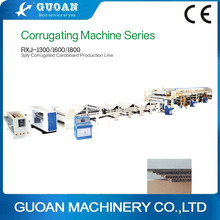 RXJ-1300/1600/1800 Triple corrugated board Production Line/corrugating machine/corrugated cardboard making machine