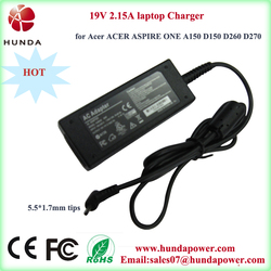 AC 19.v 2.15amp laptop charger, mini stand alone external laptop battery charger