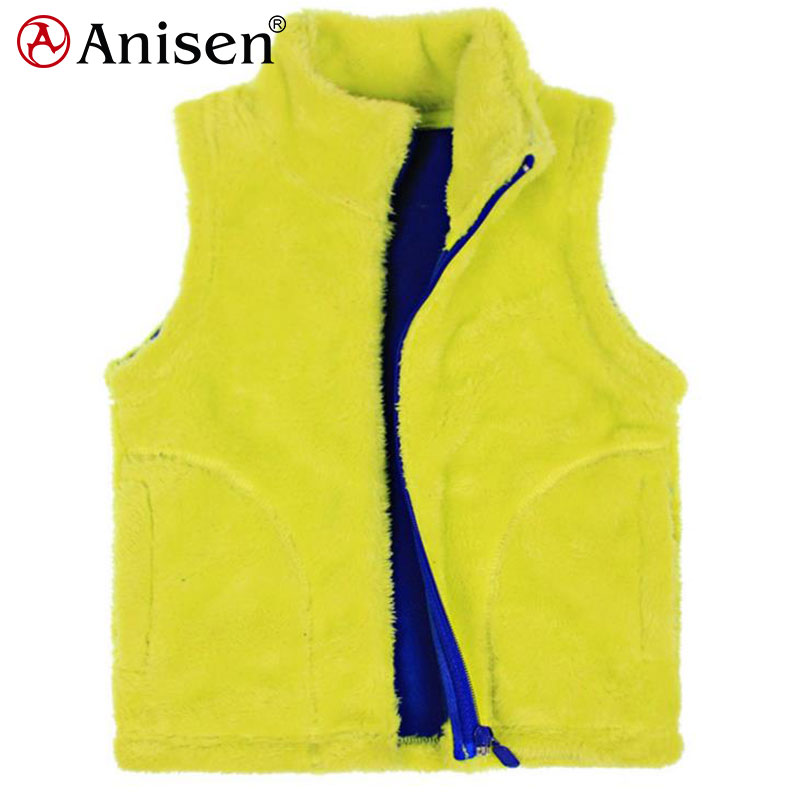 china supplier custom fur lined fleece men vest