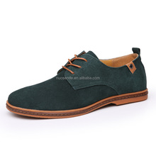 Autumn Winter suede men casual shoes Genuine leather plus size men's shoe
