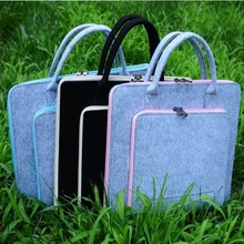 15.6 inch 19 inch 20 inch wholesale custom Wool Felt office notebook Laptop sleeve Computer Tote Bag