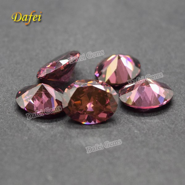 Smoky Cubic Zirconia Semi Previous Stone