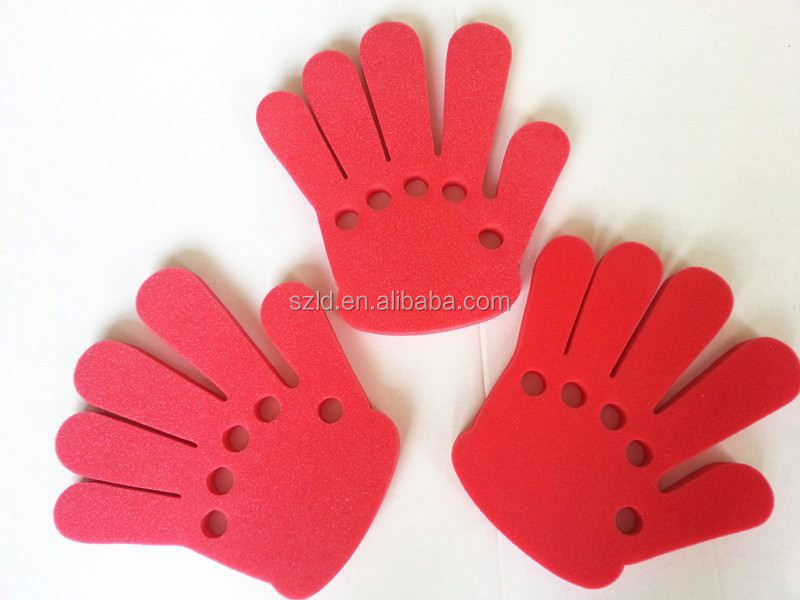 foam hand for event and party,foam hand sponge finger cheering mitt with middle finger