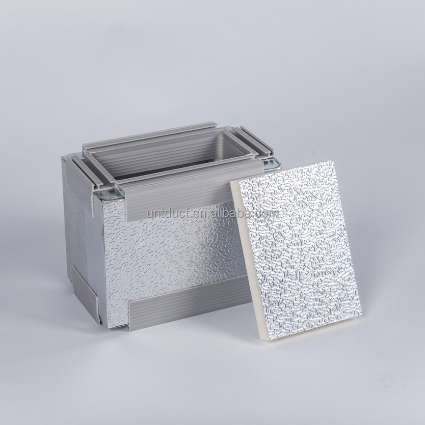 Aluminium Panel With Insulation : Untduct pu pre insulated aluminum duct panel for hvac