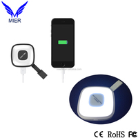 LED Flashlight Keychain Portable Power Bank