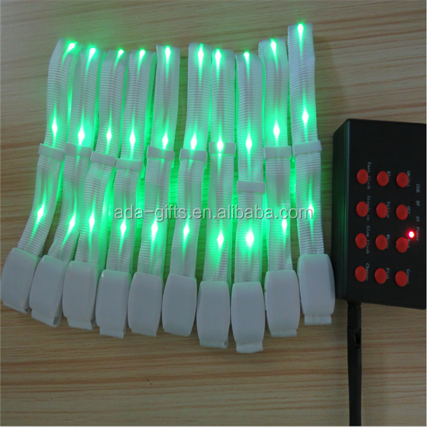 custom printing led colored bracelet remote controlled led colorful bracelet