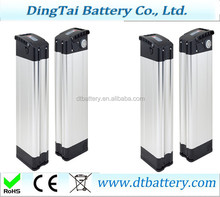 36v 10.4ah Samsung cells e-bike battery silver fish type e-bike battery Under discharge port