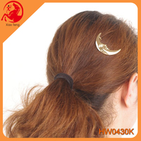 Head pin jewelry wholesale hair extensions clamp moon shape hairpin