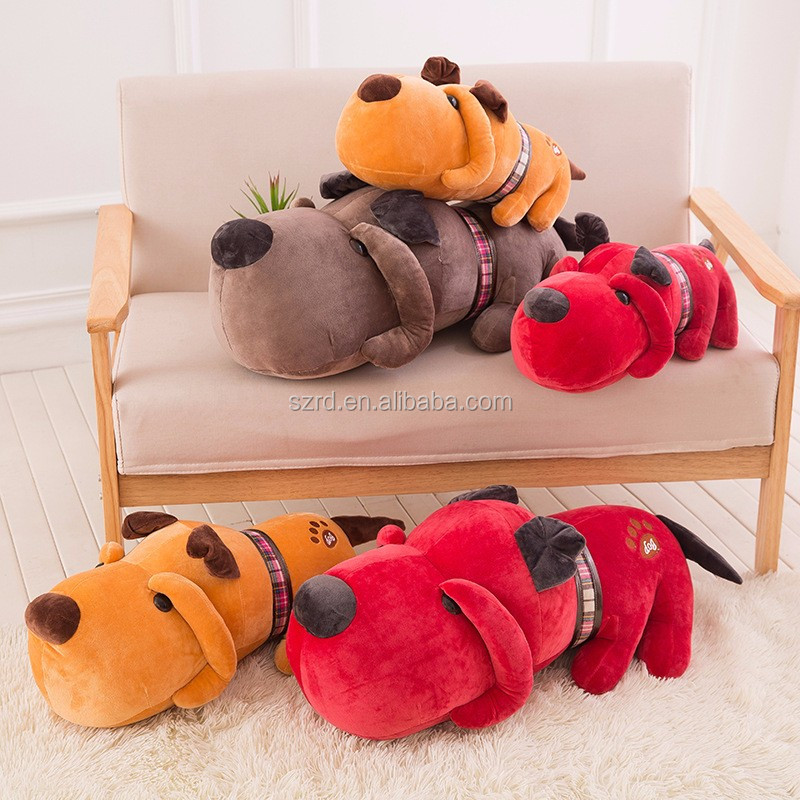 Cute long plush dog body soft toy/3D printed dog animal shaped cartoon dolls/animal plush pillow for kids