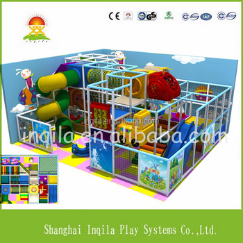 children park indoor shopping mall playground castle with slide and climbing