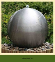 large stainless steel gazing ball