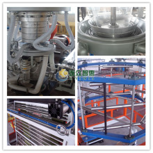 Three layer EVA co-extruding upper traction rotation plastic blown film blowing machine price