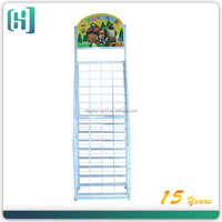 Custom metal hanging bar display racks picture display racks for brand advertising, display rack