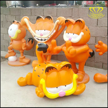 Customized cartoon Personalized garfield series Ornaments Resin Craft Statue