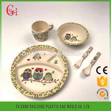 Eco-friendly hot sale bamboo fiber dishes and plates