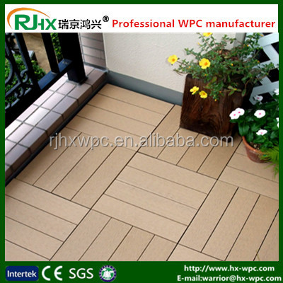 wood deck tiles cheap in solid design/DIY with customized composite deck
