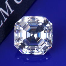 EF Color 7x7mm Asscher Cut Clear White Moissanite Loose Stone Diamond For Jewelry.