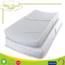 CM-11 Organic Baby Cotton Nappy Changing Mat Portable Diaper Changing Pads Cover