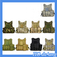 Hogift Wholesale 800D Tactical Vest 4 front pocket Military Army Tactical Vest