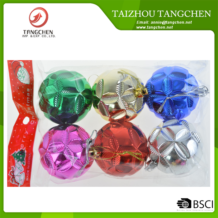 Hot sale plastic christmas tree ball hanging ,holiday decoration ,christmas baubles hanging