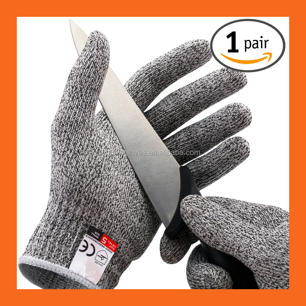 Nocry High Performance Level 5 Protection HPPE Cut Gloves Food Grade Working Safety Cut Resistant Gloves for Kitchen use