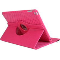 High quality ultra slim pu+tpu leather tablet case for 360 degree rotate for ipad case/