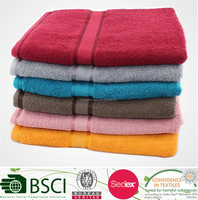 Cotton various bright colored bath towel