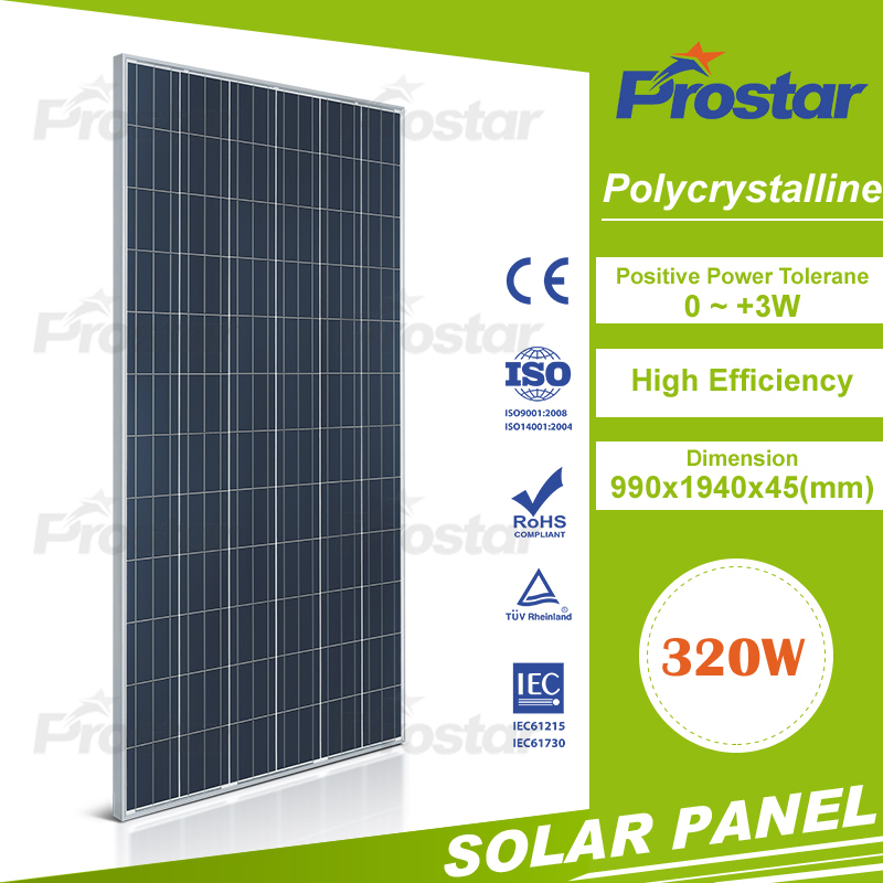 Prostar high efficiency good price poly 320 watt pv module 320w solar panel for roof