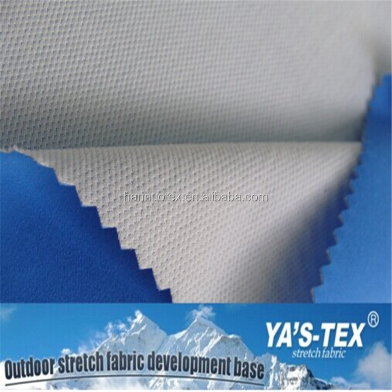 Wholesale Twill Polyester Stretch 3 Layer Laminated Fleece Fabric For Sportswear