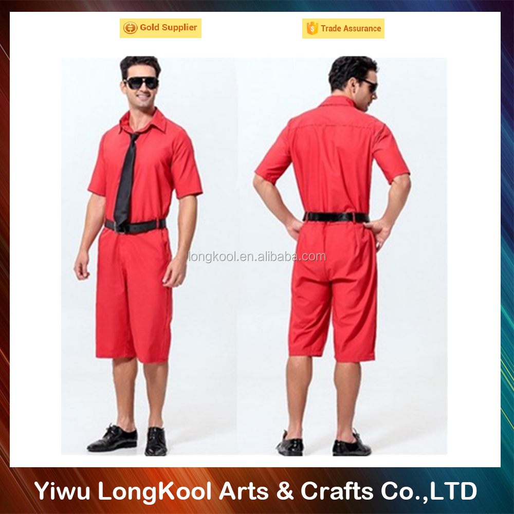 Best selling halloween men costume red color sexy costume