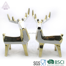 newly ceramic gold and silver Christmas reindeer decorations