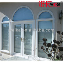 double glass plastic casement door
