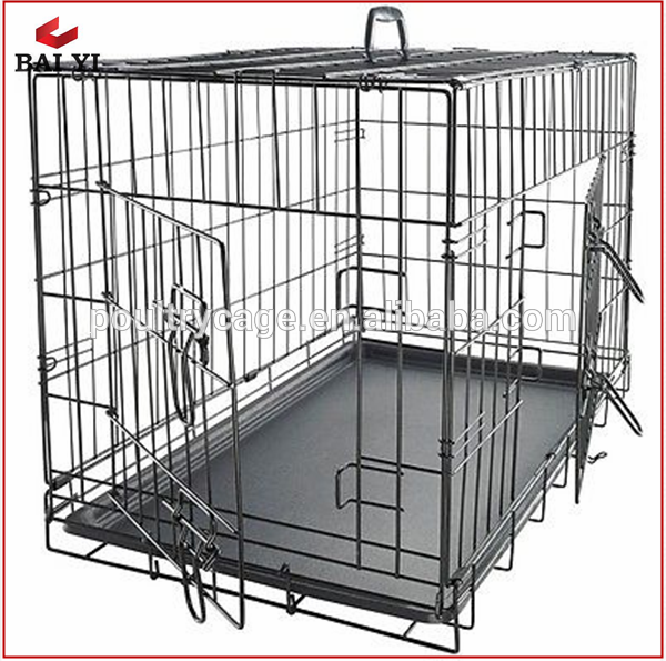 Collapsible Double-door Dog Cage Different Sizes For Sale