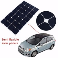 thin film 80W 12V Flexible Photovoltaic Solar Pannel with sun power cell