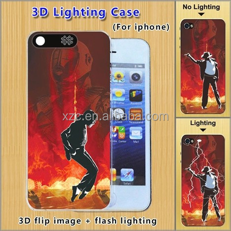 2015 led flash light up case for apple iphone,light up case for iphone 5c with 3D design