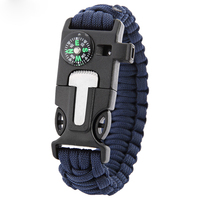 Hottest Selling 5-in-1 survival baided Paracord Bracelet