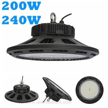 High power LED high bay light UFO IP65 waterproof 130Lm/W 240W 31200Lm