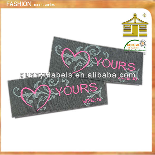 2013 Alibaba Hot Sales woven label for mens garment, bags,shoes etc.