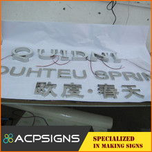 Manufactures Custom Cheap Flat Handle sign letter source include metal letters with A Discount