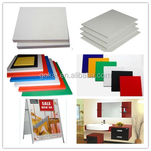 factory direct sale extrude foaming PVC sheets 10mm thickness with best price